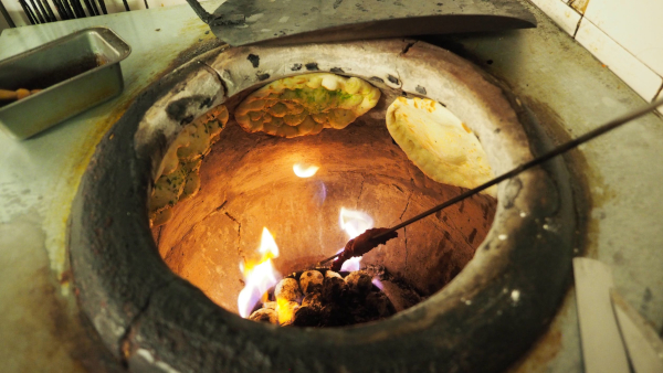 tandoori clay oven with naan