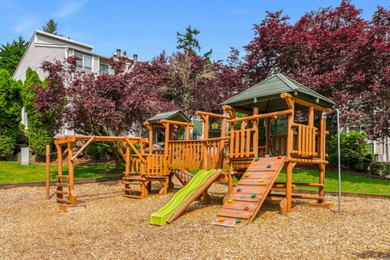 The play area for children at Timbers Apartments.